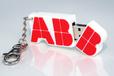 2D Projekt USB Stick Sonderform - ABB Logo Umsetzung